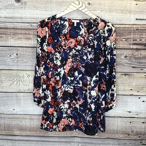 Joie Reed Abstract Floral Tunic Small Blue Floral